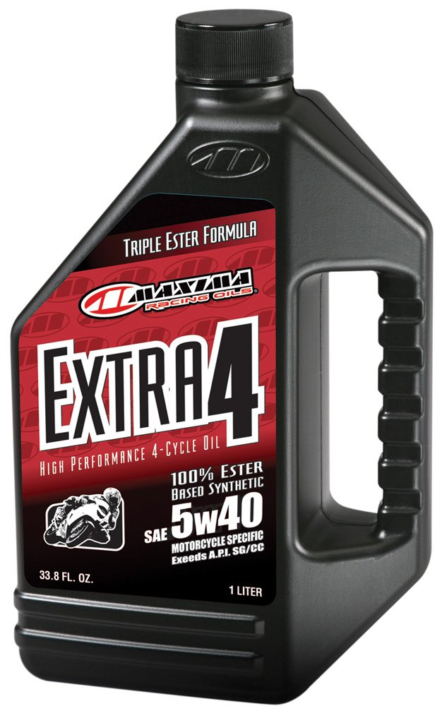 Maxima 30-17901 Extra4 5W-40 Synthetic 4T Motorcycle Engine Oil - 1 Liter Bottle