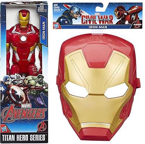 Iron Man 2 Machine War Costume (Iron-Man Civil War Titan Series Mask & Marvel Figure 2 Pack Hero Series 12