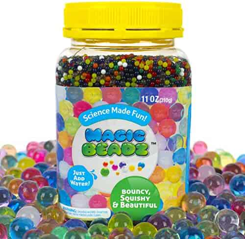Magic Beadz - Jelly Water Beads Grow Many Times Original Size - Fun for All Ages - Large Size - Over 30,000 Beads