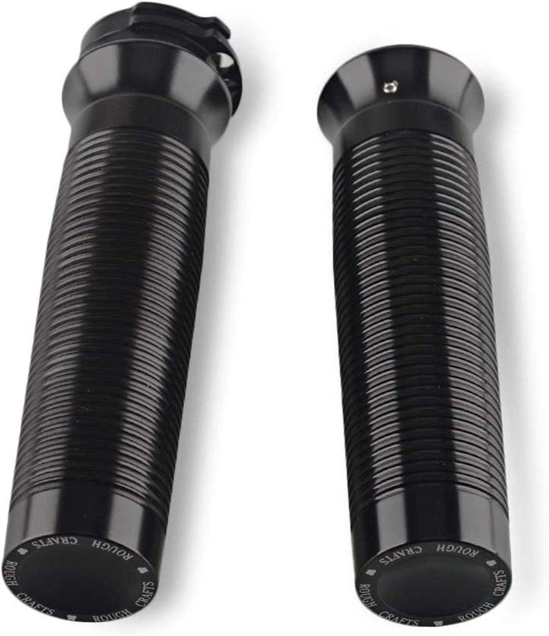 Poign/ées de Guidon Moto 1// 26mm CNC Aluminium pour Harley Sportster Noir