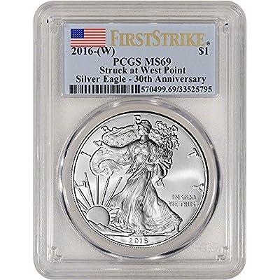 2016 (W) American Silver Eagle (1 oz) First Strike $1 MS69 PCGS