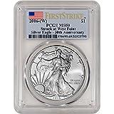 #4: 2016 (W) American Silver Eagle (1 oz) First Strike $1 MS69 PCGS