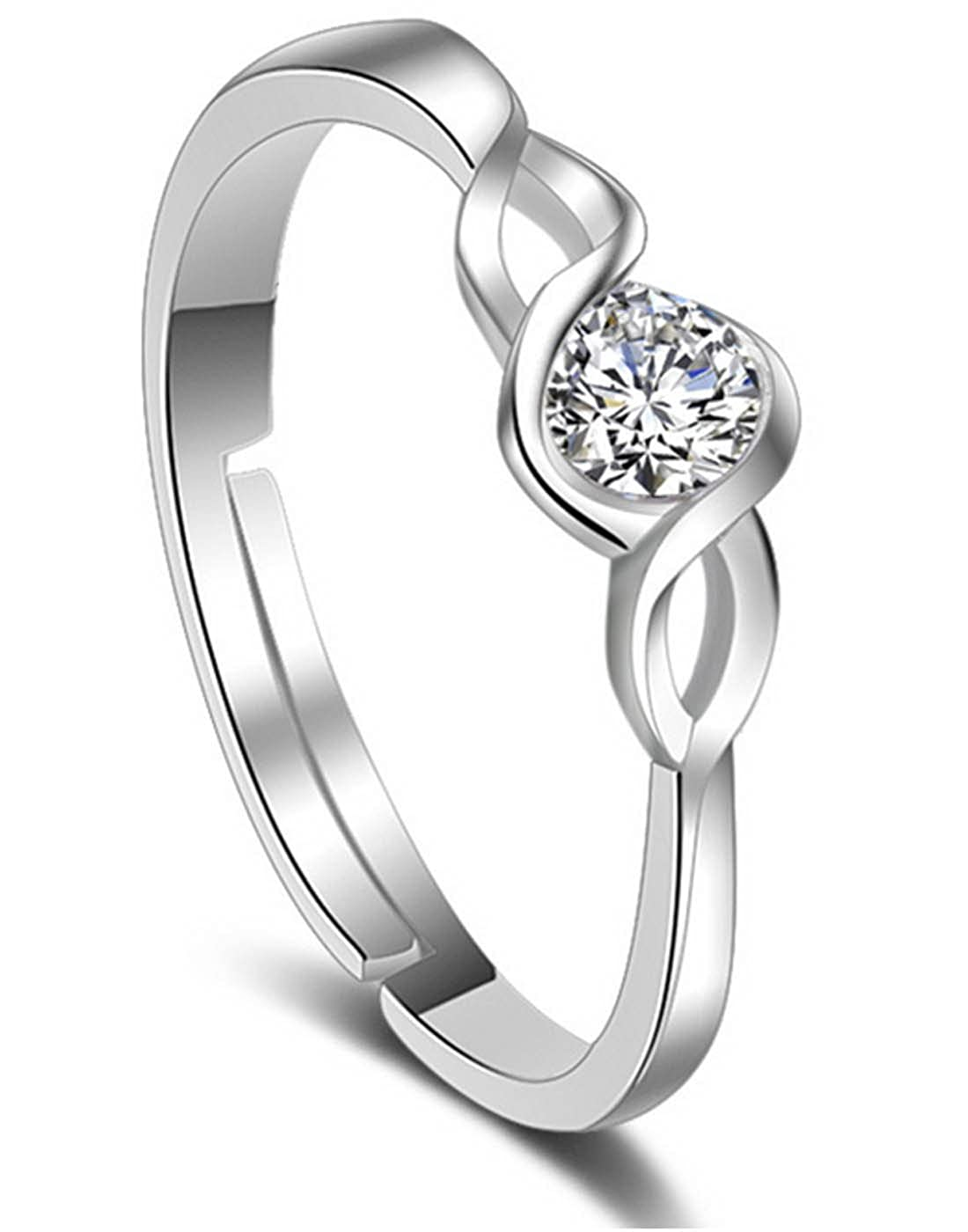 d9ad56fbec Buy Karatcart Platinum Plated Elegant Classic Crystal Adjustable Ring for  Women Online at Low Prices in India | Amazon Jewellery Store - Amazon.in