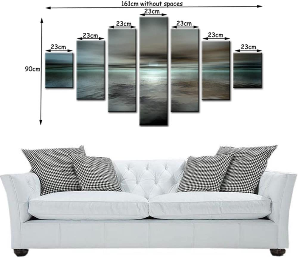7 Panel Total Size 160x80cm Large Digital Print Canvas Wall Art NEUTRALISE