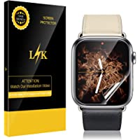 6-Pack LK Screen Protector for Apple Watch 42mm Series 3/2/1 - Max Coverage Screen Protector HD Clear Anti-Bubble Film With Lifetime Replacement Warranty