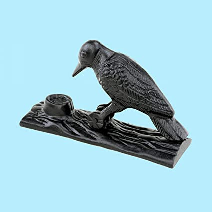Superbe Renovatoru0027s Supply Door Knocker Black Cast Iron Woodpecker Design Rustproof  6.5 Inch High
