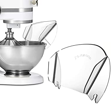 Pouring Shield for KitchenAid Stand Mixer Bowls, Universal Pouring Chute for Adding Dry & Liquid Ingredients Away From Messy or Spraying, Stand Mixer Attachments & Accessory