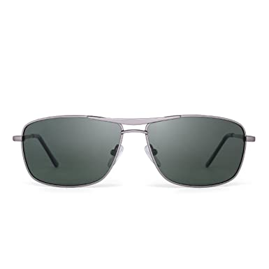 801693e9e28 Polarized Rectangle Sunglasses Driving Lightweight Spring Hinge Frame Men  Women G15  Amazon.co.uk  Clothing