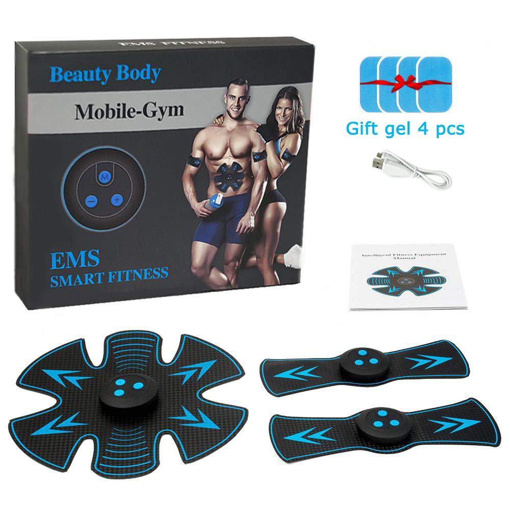 Ceintures Tonifiantes GLEADING ABS Trainer EMS Stimulateur de Musculation Abdominal Appareil dentra/înement Fitness pour Les Femmes et Les Hommes