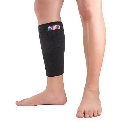 b1149bbdb5 Vitoki Calf Sleeve Compression Shin Splint Support Calf Brace for Running,  Training, Travel,