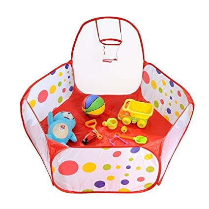 Storage Bags 1.5m Kids Ball Pit Tent Playpen With Basketball Hoop And Zippered Storage Bag For Toddlers Pets Indoor Outdoor Playing
