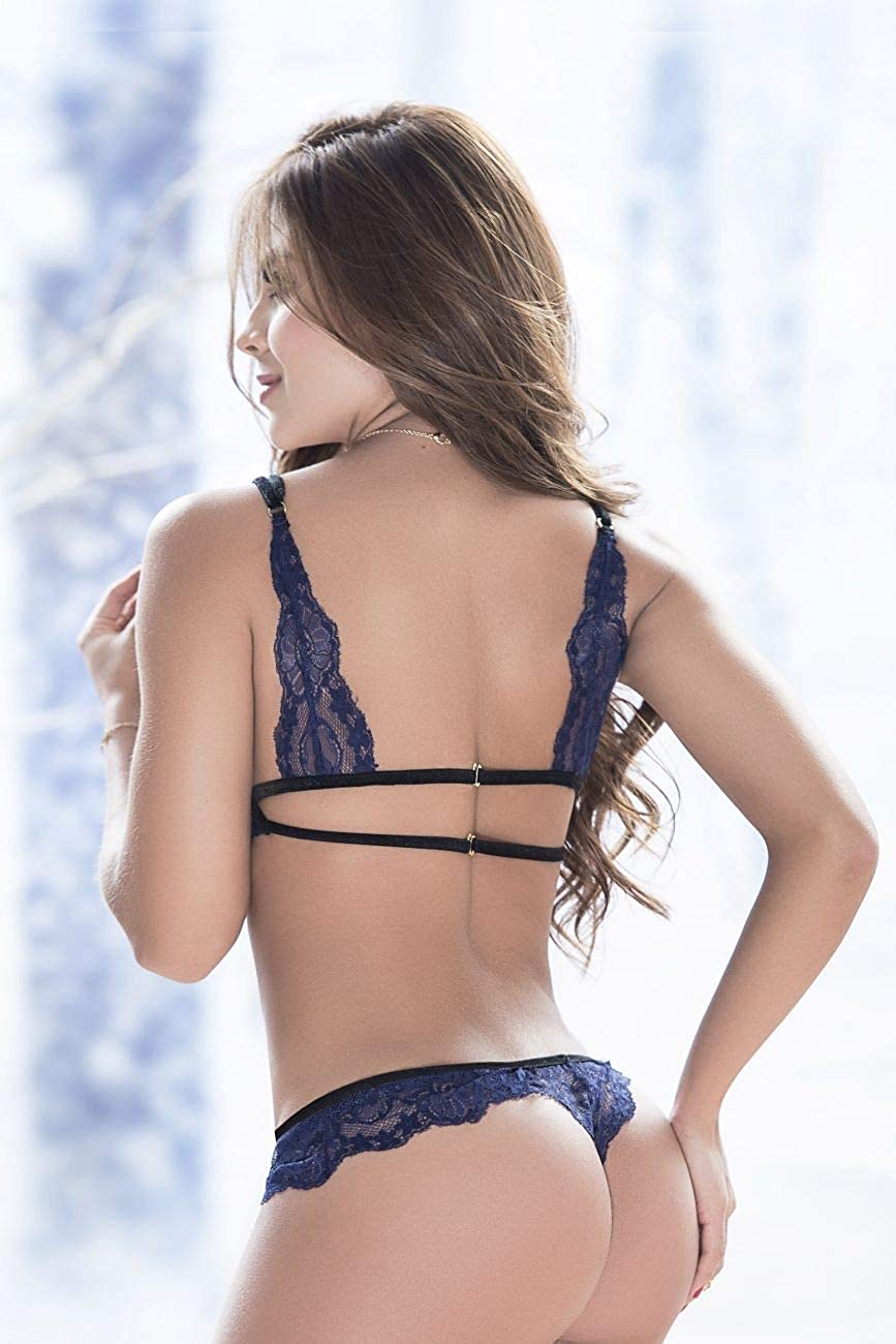 Mapalé Sexy Mesh and Lace Underwear for Women 2-Piece Set Ropa Intima De Mujer at Amazon Womens Clothing store: