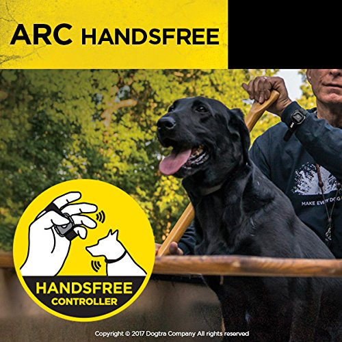 Dogtra ARC HANDSFREE Remote Training Dog Collar - 3/4 Mile Range, Hands Free Remote Controller, Waterproof, Rechargeable, Shock, Vibration - Includes PetsTEK Dog Training Clicker by Dogtra (Image #1)