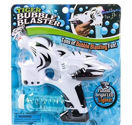 8'' WHITE TIGER BUBBLE BLASTER, Case of 48