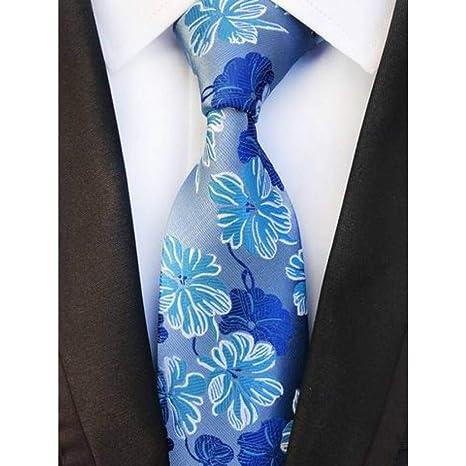 WOXHY Corbata Nuevo diseño Paisley Azul Marino Verde Jacquard ...