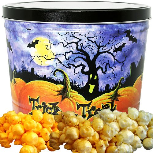 Halloween Popcorn Gift Tin Small by Just Poppin ()