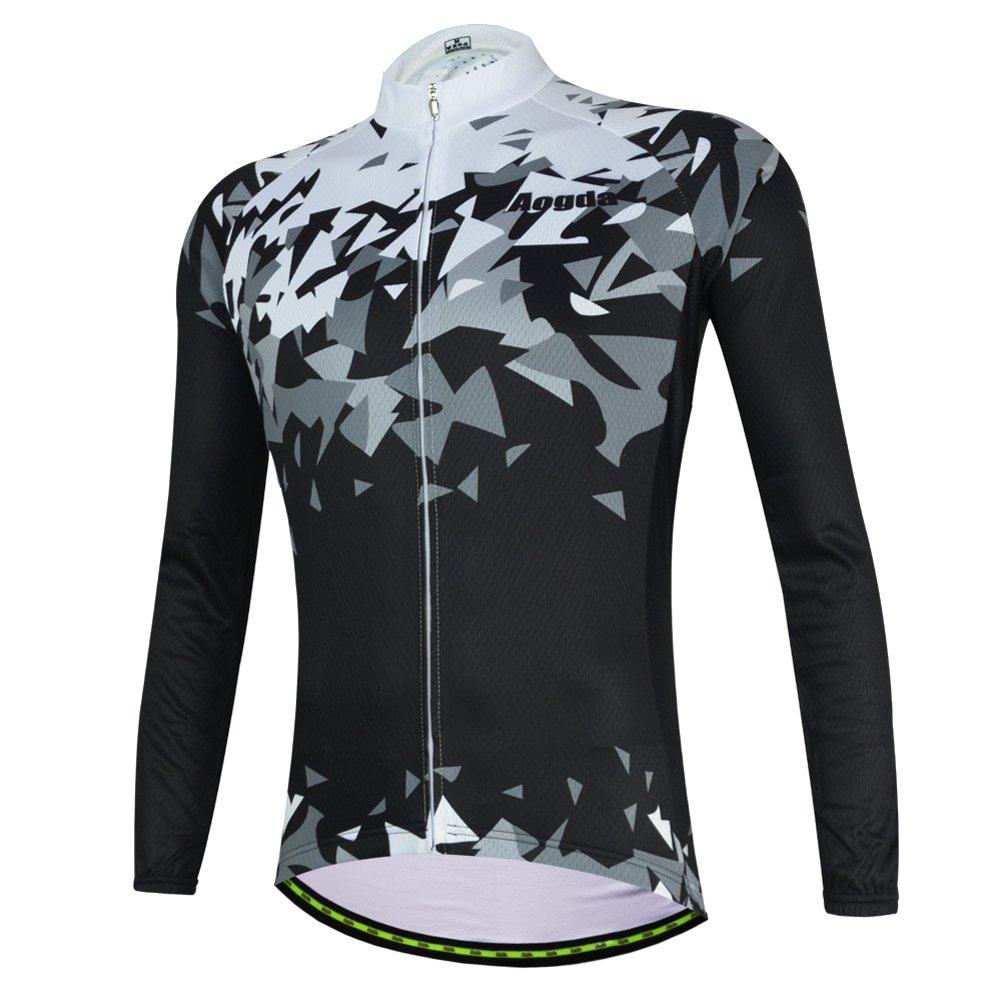 メンズサイクリングジャージ長袖シャツ冬熱ジャケットバイク自転車衣類 B075H6S4YG Medium|ジャージーズ(jerseys) ジャージーズ(jerseys) Medium