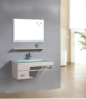 4-tlg. Badmöbel-Set Badezimmermöbel Komplettset 80 cm ... | {Waschbeckenunterschrank aufsatzwaschbecken 66}