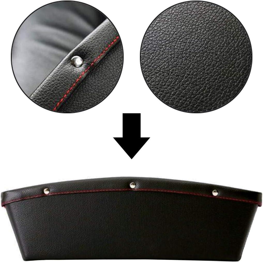 2x Car Seat Gap Slit Pocket Organizer Black 35 x 10.5 x 2.5cm PU Leather JJOnlineStore