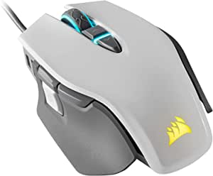 Corsair M65 Elite - FPS Gaming Mouse - 18,000 DPI Optical Sensor - Adjustable DPI Sniper Button - Tunable Weights - White