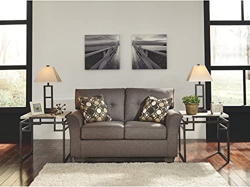 Signature Design by Ashley – Tibbee Contemporary Upholstered Loveseat, Slate