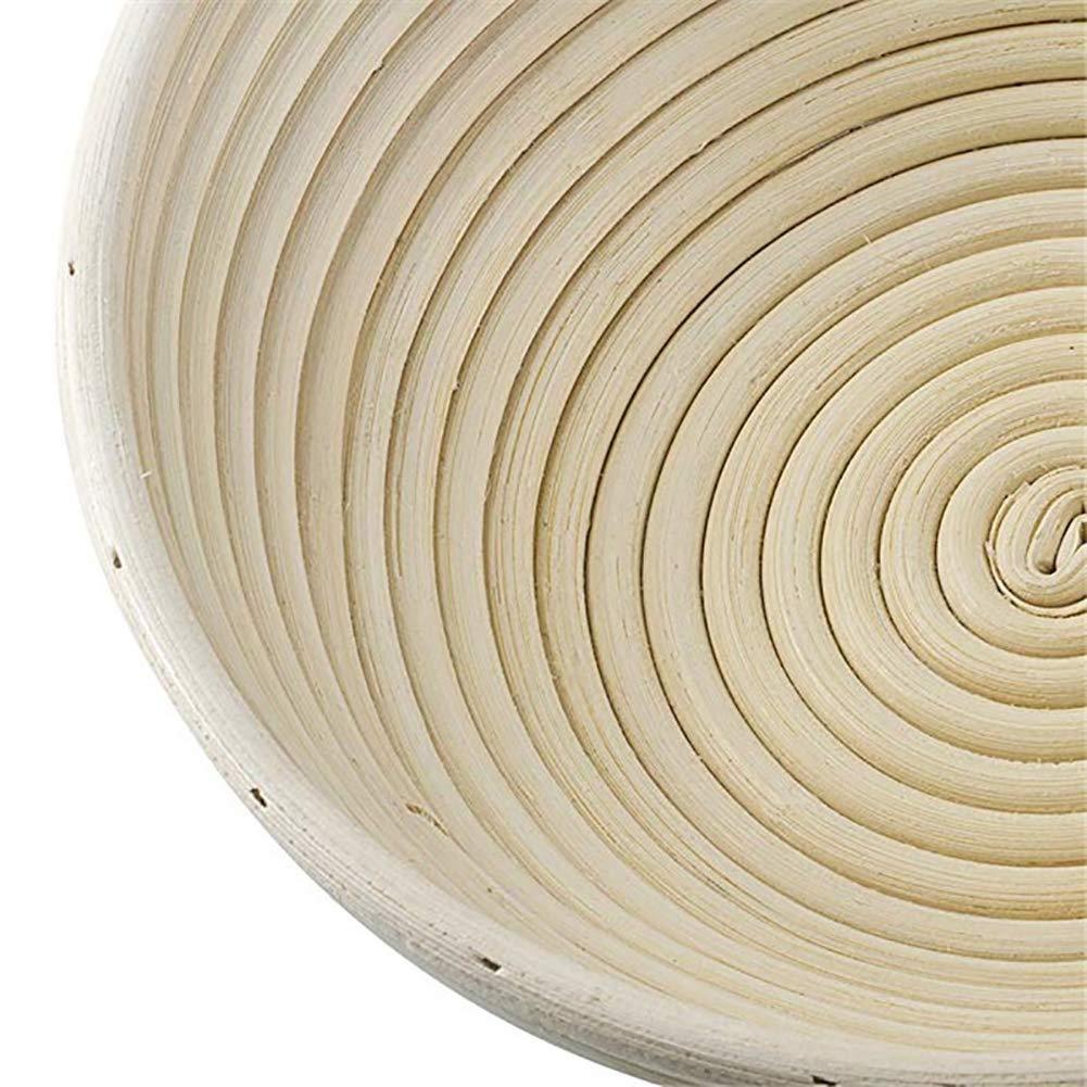 dimensioni: 11 /× 6 cm cestino rotondo per il pane JIali ciotola in rattan con rivestimento in omaggio