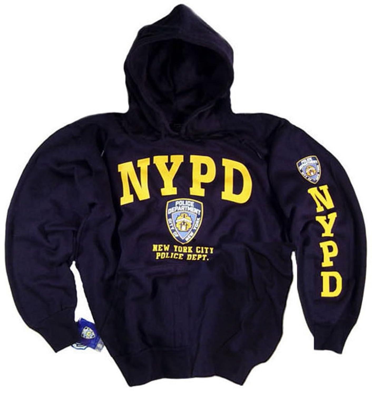 amazon com nypd shirt hoodie sweatshirt navy blue authentic