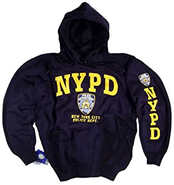 Amazon.com: NYPD Shirt Hoodie Sweatshirt Navy Blue Authentic ...