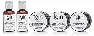 tgin Miracle RepaiRx Sample Pack For Natural Hair - Dry Hair - Curly Hair - 2 Oz
