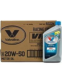 Valvoline 822347 VR1 SAE 20W-50 Racing Motor Oil - 1 Quart Bottle, (Case of 6)