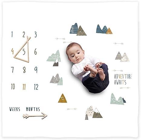 BoHo Baby Milestone Minky Blanket