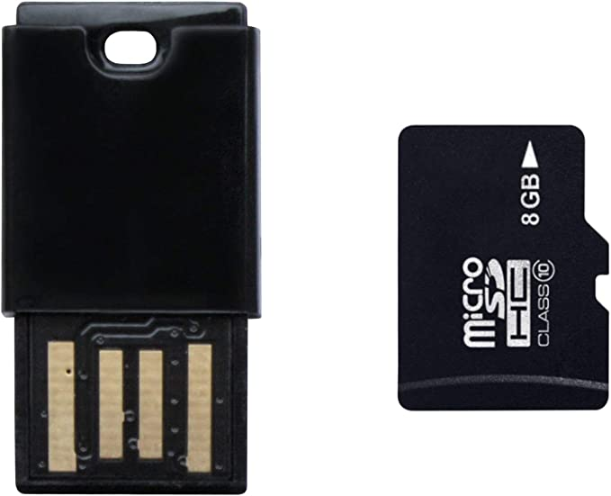 Platinum Class 10 Micro Sdhc 8gb Speicherkarte Inkl Usb Adapter Schwarz
