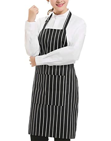 Home & Garden Independent Women Men Kitchen Bib Aprons Stripe Cooking Dress Fashion High Household Cleaning Accessories Home Cleaning Tools Aprons Bright In Colour
