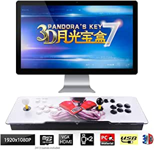 TAPDRA 3D Pandora Key 7 Retro Arcade Game Console | 2670 Retro HD Games(160 in One 3D Games Included) | Full HD 1920x1080 | Support Multiplayers | Add More Games | HDMI/VGA/USB/3.5mm Audio Output