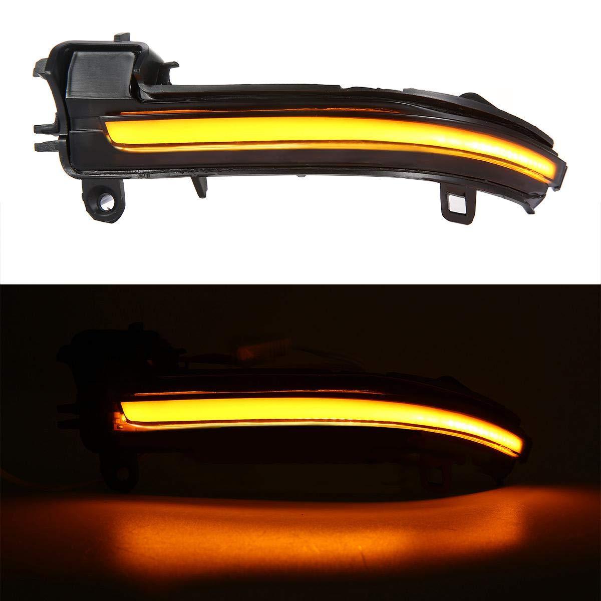 Miroir Dynamique Clignotant LED Indicateur De Lumi/èRe Fit B-MW 1-Series,3-Series,4-Series,X1 UMIWE Lumiere LED Retroviseur Clignotant R/éTroviseur Indicateurs Dynamique Lampe Ambre Voiture Assembl/éEs