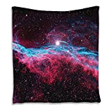 SCOCICI Supersoft Fleece Throw Blanket Nebula Outer Space Infinity Galaxy Universe Milky Way Starry Stars Orbit Astronomy Cosmos Cosmic Background Realistic Berry Turquoise Red 59 x 59 Inches