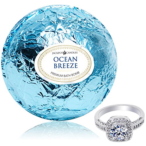 Ocean Breeze Spa (Bath Bomb with Ring Surprise Inside Ocean Breeze Extra Large 10 oz. Made in USA)