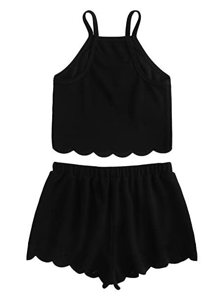 Amazon.com: SweatyRocks - Conjunto de pijama y pantalones ...