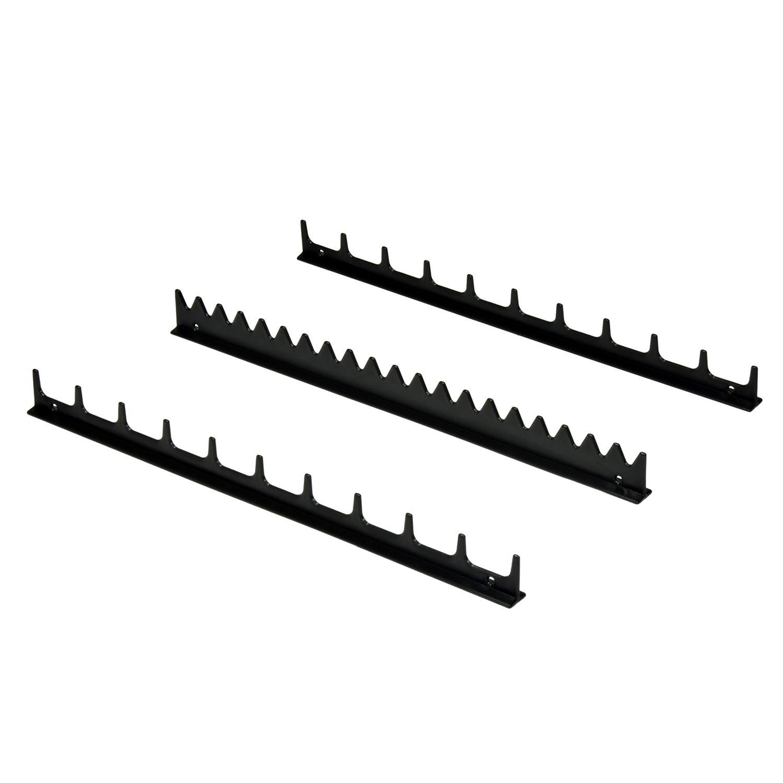 Ernst Manufacturing Screwdriver Rail Set with Magnetic Backing, 20 Tool, Black 6011M-Black