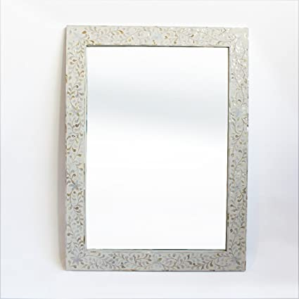 Amazoncom Mother Of Pearl Inlay Mirror Frame Home Kitchen