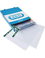 Elba A4 Glass Clear Punched Pockets, Box of 100