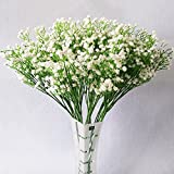 LYLYFAN 12 Pcs Babys Breath Artificial Flowers, Gypsophila Real Touch Flowers for Wedding Party Home Garden Decoration