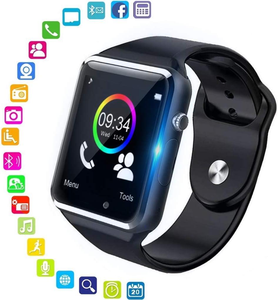 Smartwatch, reloj inteligente Android con ranura para tarjeta SIM, reloj inteligente para hombres y mujeres, reloj deportivo con podómetro y cronómetro, Reloj inteligente bluetooth, para Android iOS