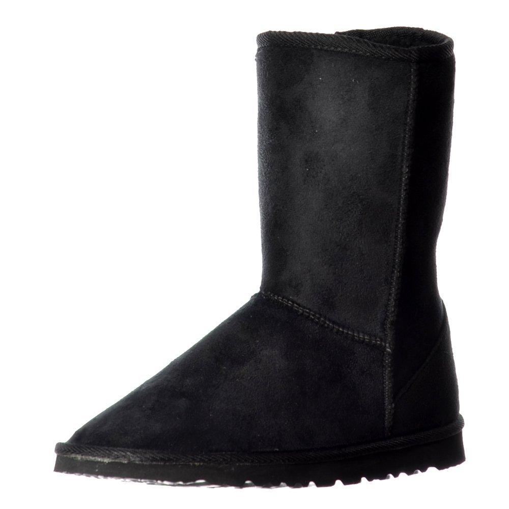 Ella dames des femmes femmes Fur - Lined Flat Ankle Ella hiver Slouch Boot - Chestnut Brown, Marron Noir 0b62606 - latesttechnology.space