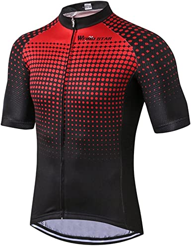 New Cycling Jersey Bike Short Sleeve Clothing Bicycle Wear Jersey Top S-3XL Red