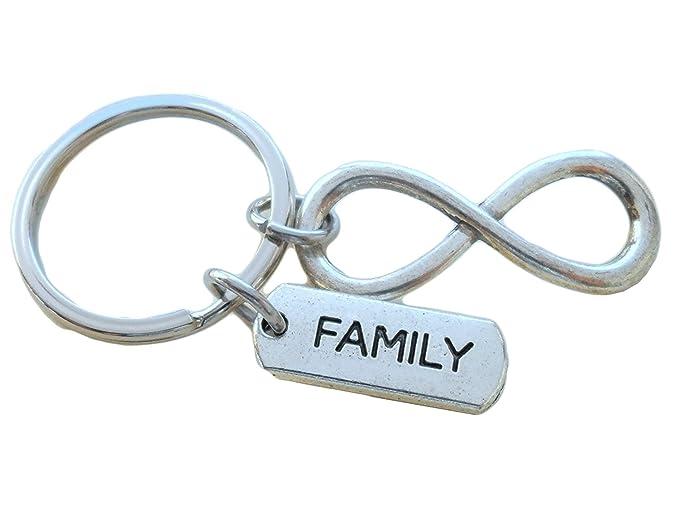 Amazon Family Tag With Silver Tone Infinity Symbol Keychain