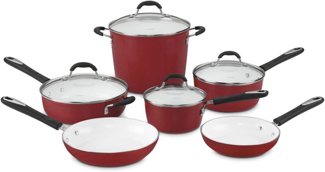 """Cuisinart 59-10R Elements 10-Piece Cookware Set. Top 5 Cookware Brands: """"Tips Reviewing Cuisinart Small Appliances"""""""