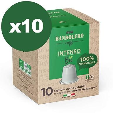 BANDOLERO 100% Compostable Made in Italy, 100 Cápsulas ...