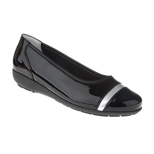 Natural Feet Tessamino Damen Ballerina aus Sola Stretch | elegant | Weite H | für Einlagen