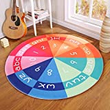 Hyun times Carpet camera magic circle round carpet children bedroom bedside cloakroom computer chair cushion ( Color : B , Size : 180cm )